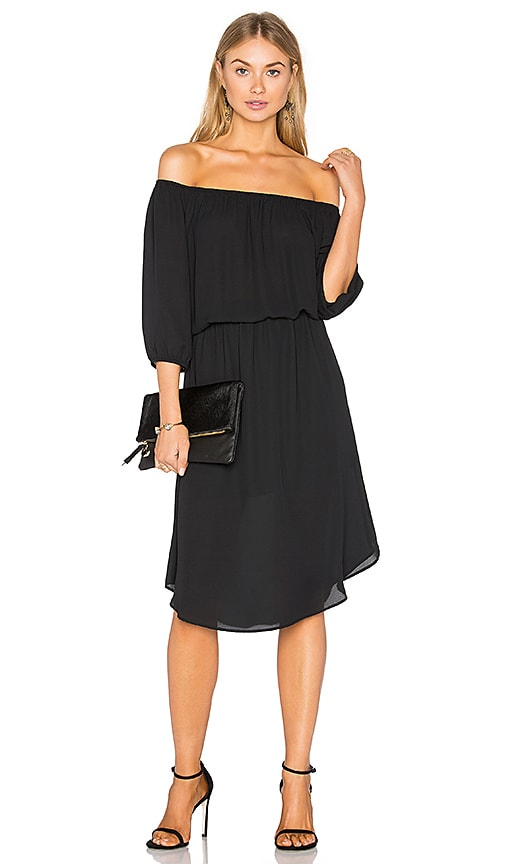 Eight Sixty Off The Shoulder Midi Dress in Black