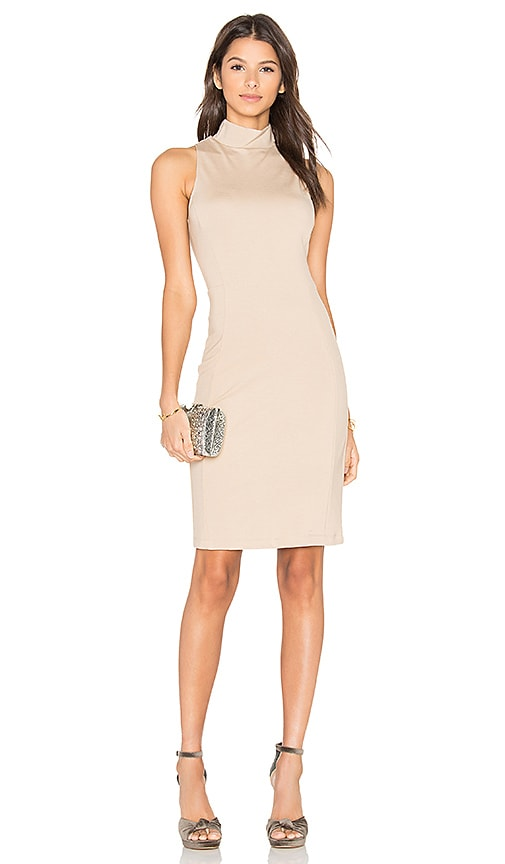 Eight Sixty Mock Neck Dress in Tan