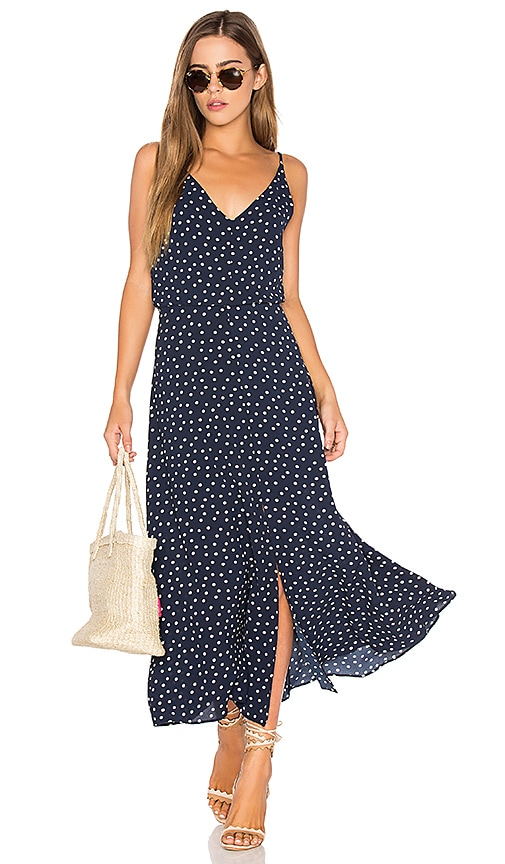 Eight Sixty Polka Dot Dress in Navy
