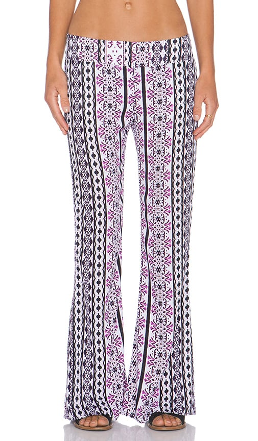 Eight Sixty Rhapsody Bell Pant in Purple & Black & White