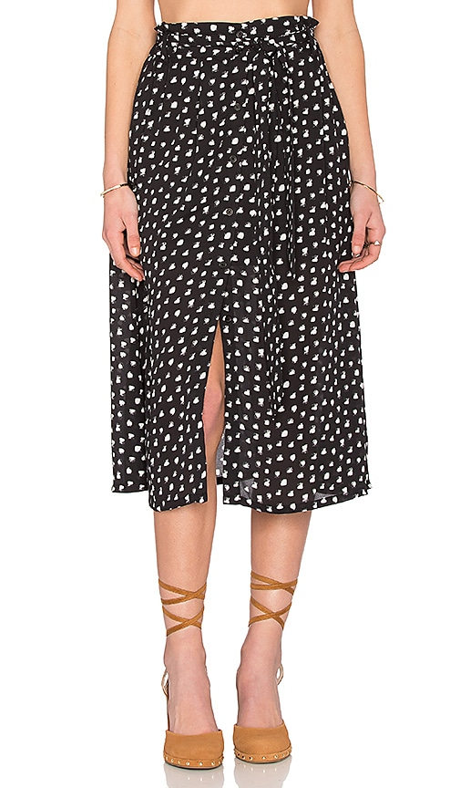 Eight Sixty Four Corners Skirt in Black & White