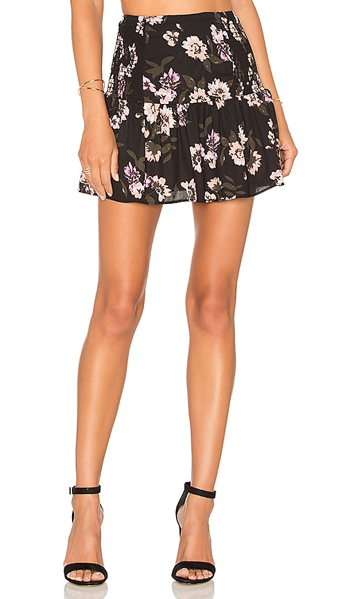 Eight Sixty Peach Blossom Mini Skirt in Black