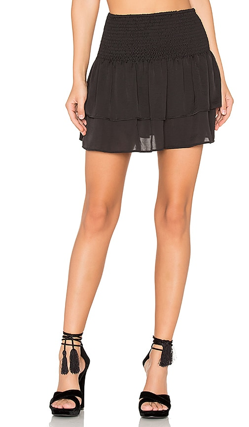 Eight Sixty Shirred Mini Skirt in Black