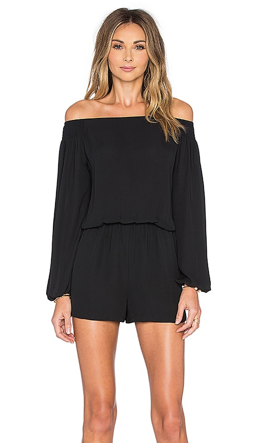 Eight Sixty Off The Shoulder Romper in Black