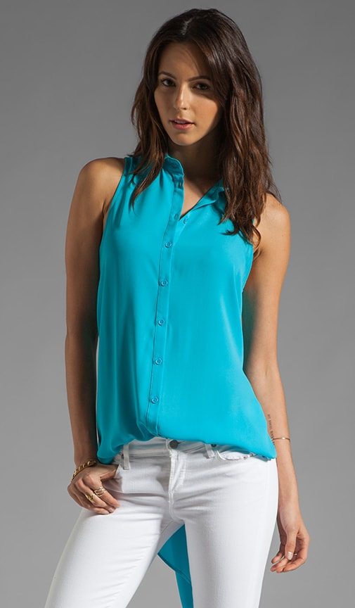 Hi Lo Button Down Tank