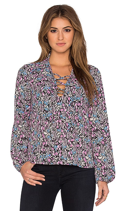 Eight Sixty Zoe Floral Top in Pink Multi