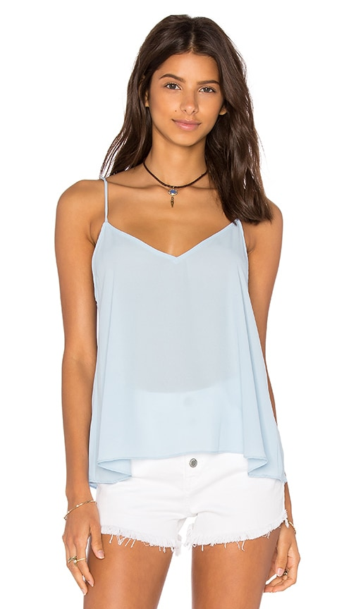 Eight Sixty V Neck Tank in Blue