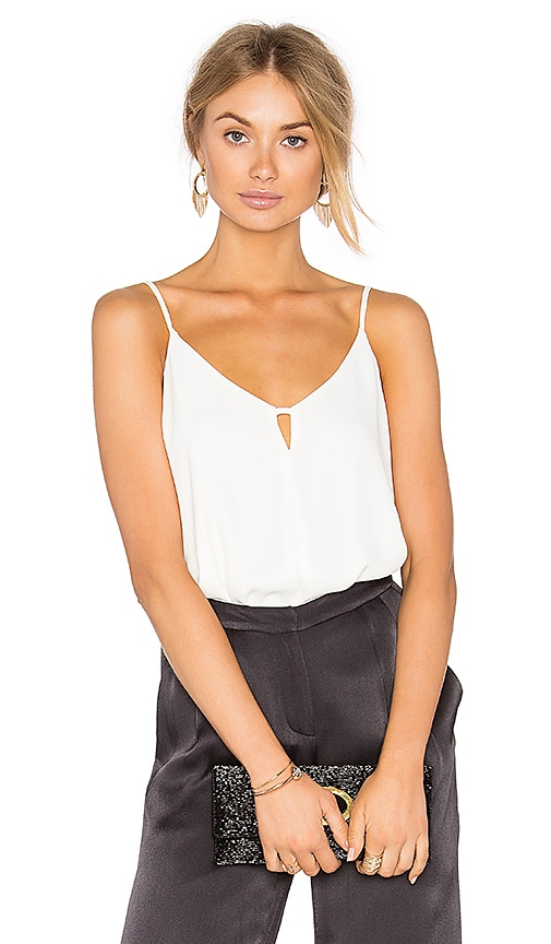 Eight Sixty Scoop Neck Tank in Ivory