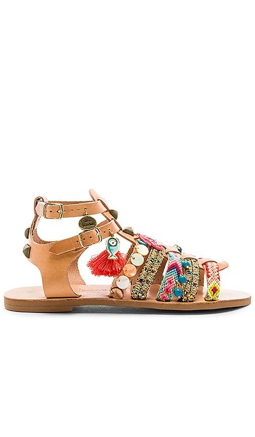 Elina Linardaki Saltwater Sandal in Tan