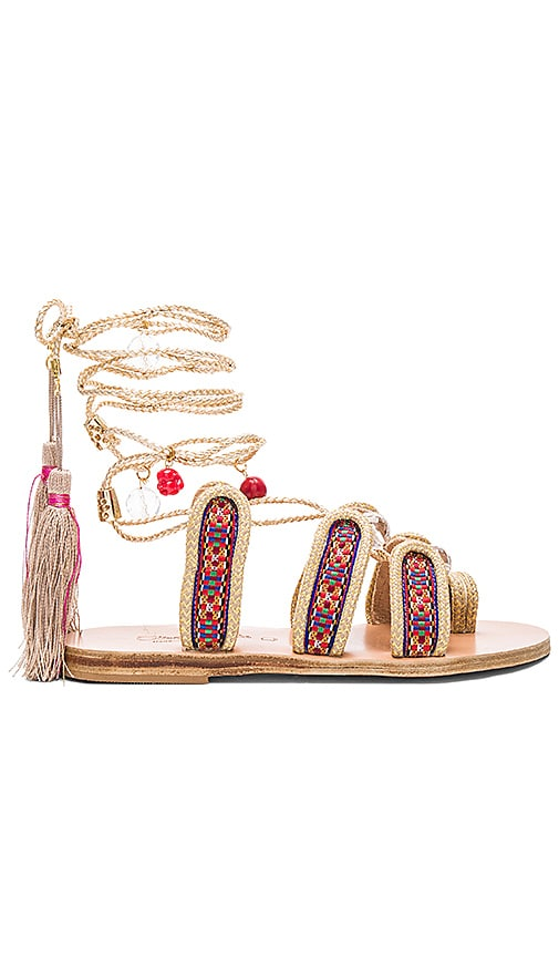 Elina Linardaki The Great Gatsby Sandal in Metallic Gold