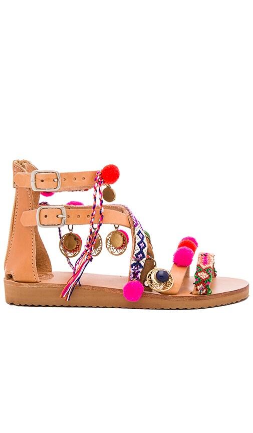 Elina Linardaki Gipsy Spell Sandal in Beige