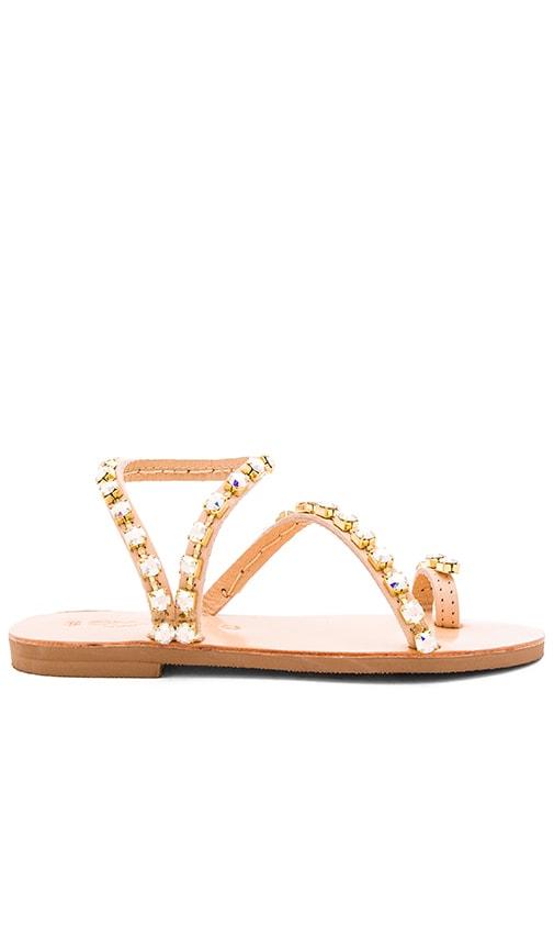 Elina Linardaki Swarovski Crystals Irize Sandal in Beige