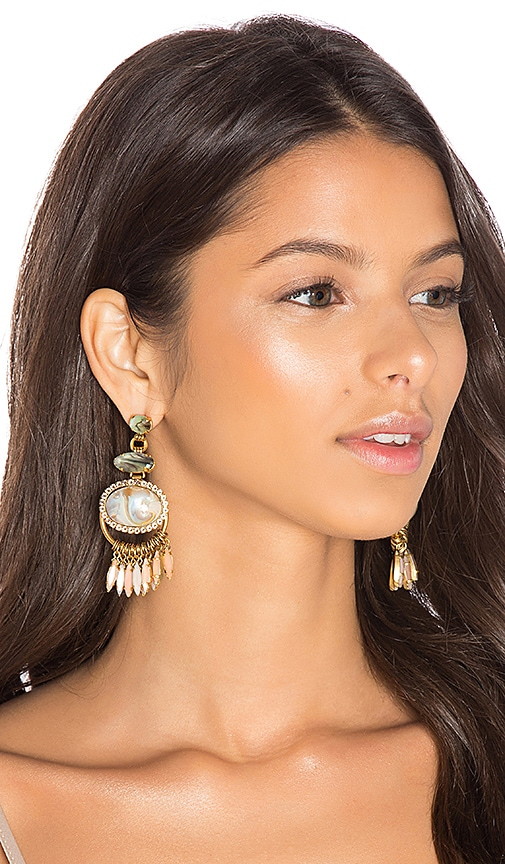 Elizabeth Cole Earrings in Metallic Gold