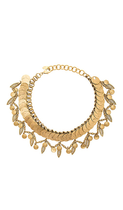 Elizabeth Cole Necklace in Metallic Gold