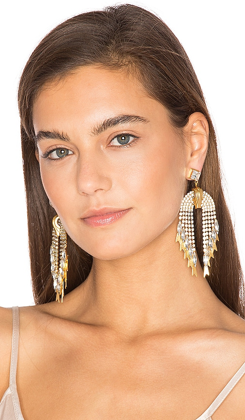 Elizabeth Cole Pixie Earrings in Metallic Gold