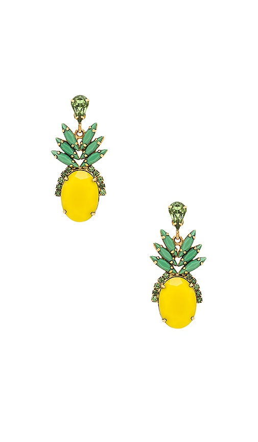 Elizabeth Cole Pineapple Studs in Metallic Gold