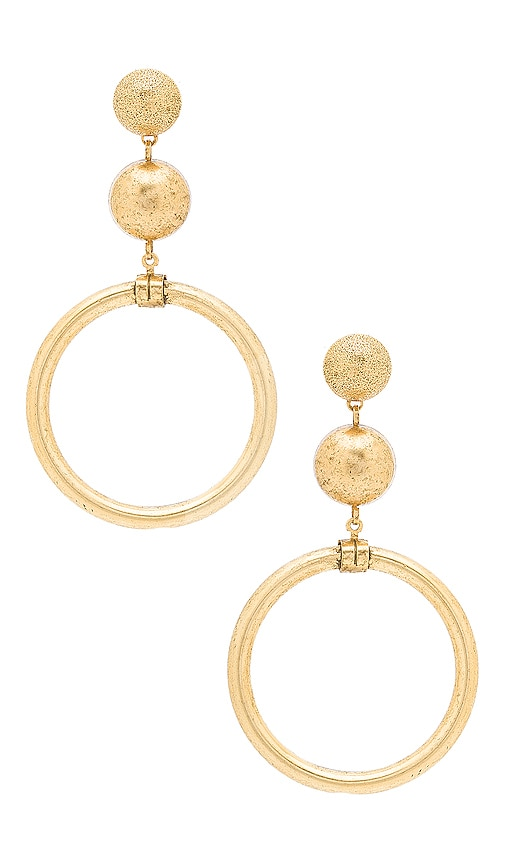 Elizabeth Cole Drop Earrings in Metallic Gold