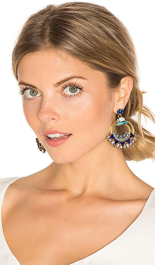 Elizabeth Cole Caden Earring in Blue