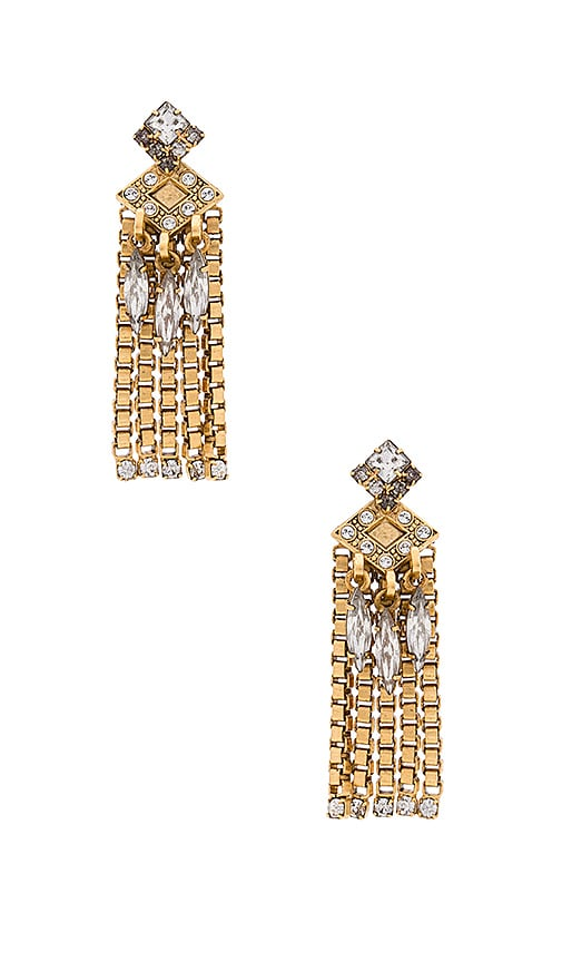 Elizabeth Cole Nala Earring in Metallic Gold