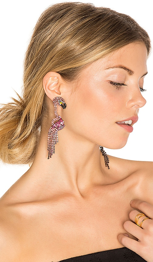 Elizabeth Cole Georgy Earrings in Red