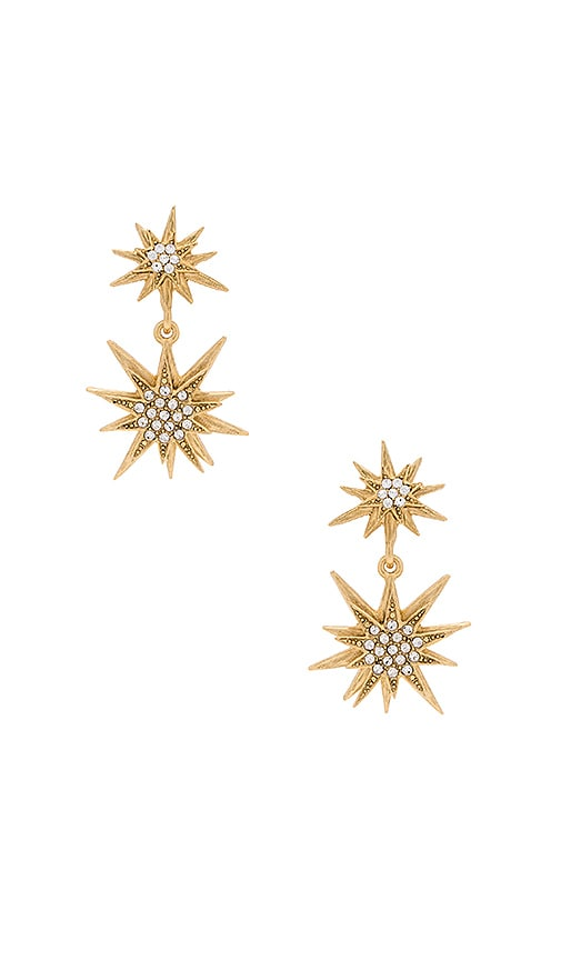 Elizabeth Cole Bianca Earring in Metallic Gold