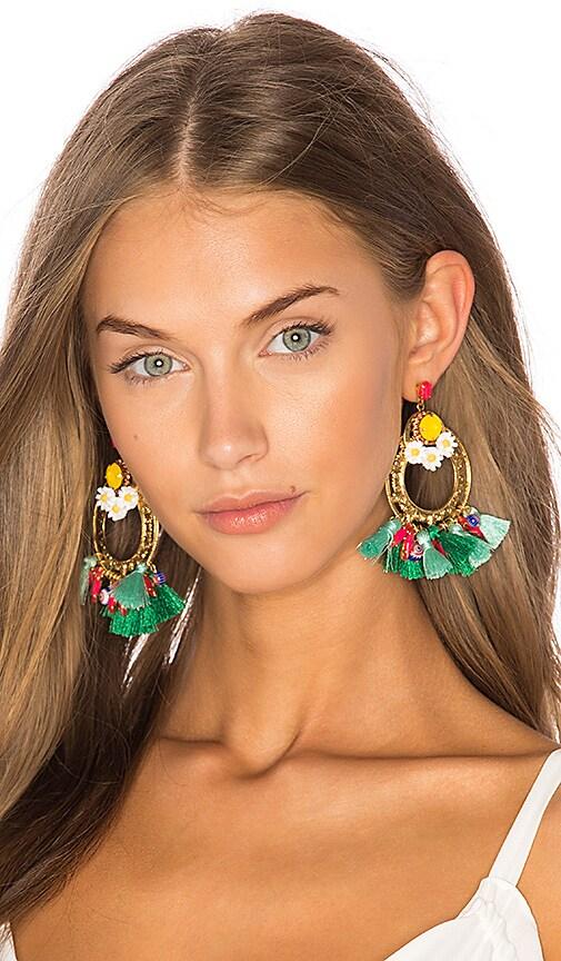 Elizabeth Cole Felix Statement Earrings in Metallic Gold