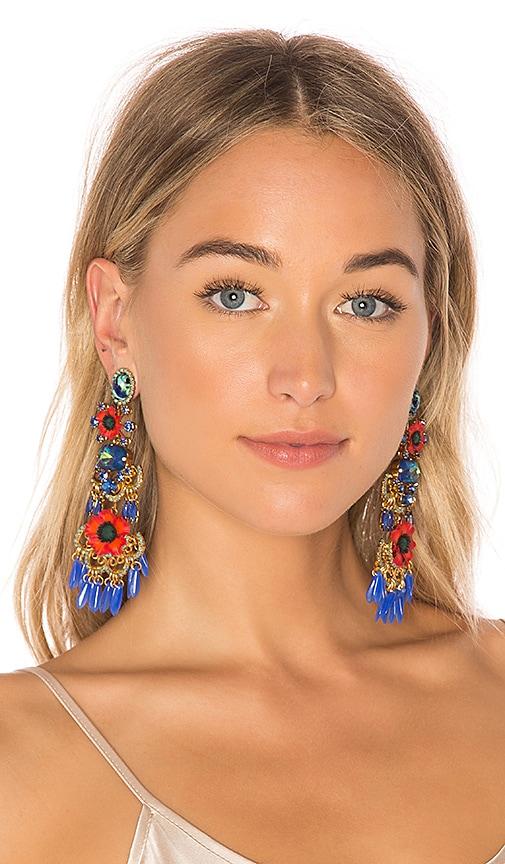 Elizabeth Cole Tutti Earrings in Red