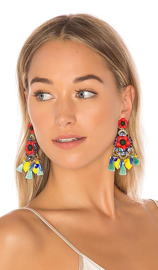 Elizabeth Cole Zaya Earrings in Red