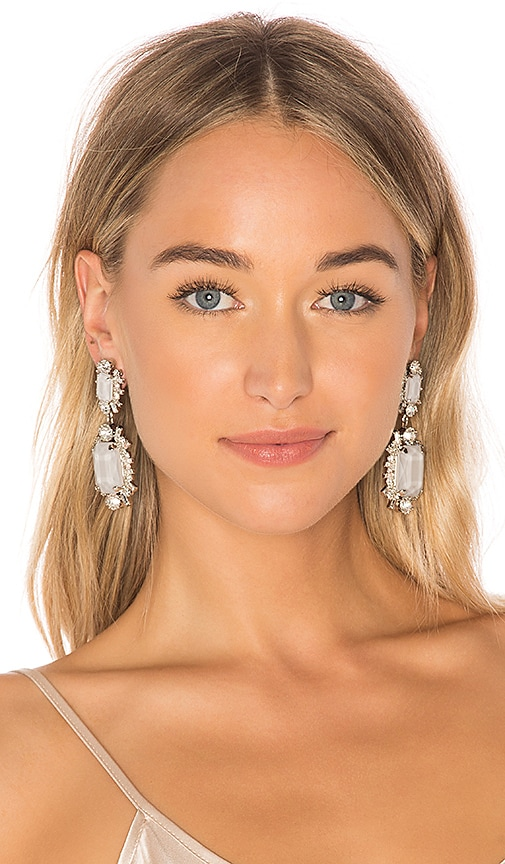 Elizabeth Cole Piper Earrings in Metallic Silver