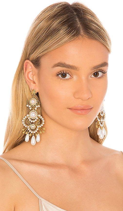 Elizabeth Cole Josephine Earrings in Metallic Gold