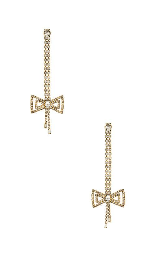Elizabeth Cole Celine Earring in Metallic Gold