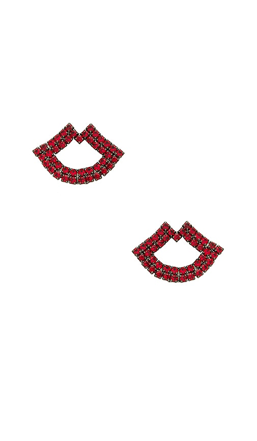 Elizabeth Cole Swift Earring in Red