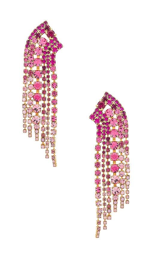 Elizabeth Cole Barrett Pink Crystal Earrings