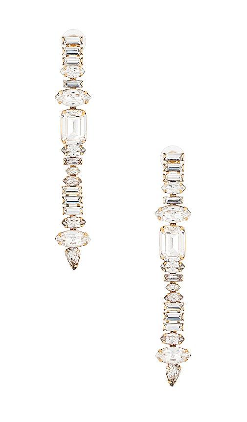 Elizabeth Cole Camp Earrings In Crystal