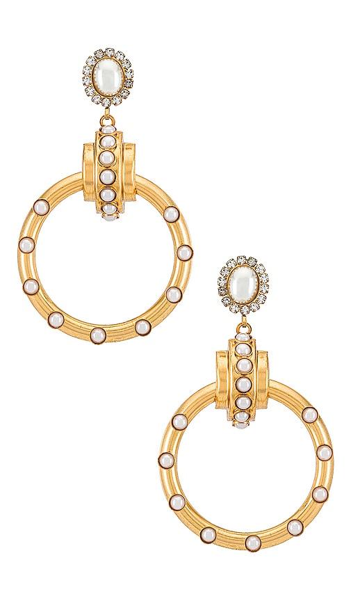 Elizabeth Cole Aubree Earrings In Pearl