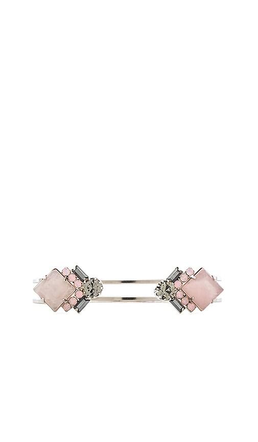 Elizabeth Cole Kelsey Bracelet in Metallic Silver