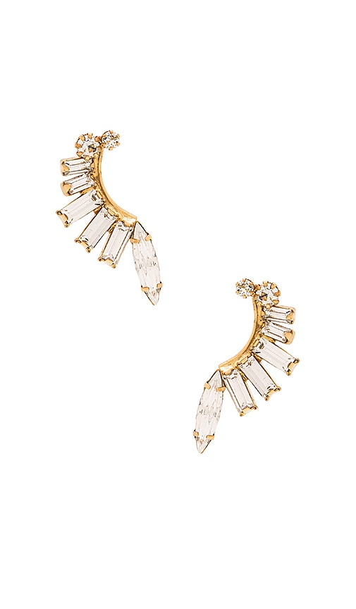 Elizabeth Cole Earring in Metallic Gold