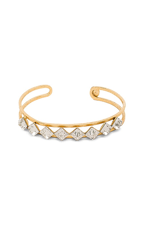 Elizabeth Cole Pointed Cut Stone Bracelet in Crystal