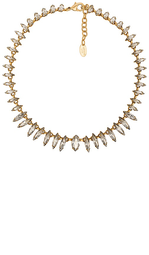 Elizabeth Cole Almond Cut Gem Necklace in Crystal