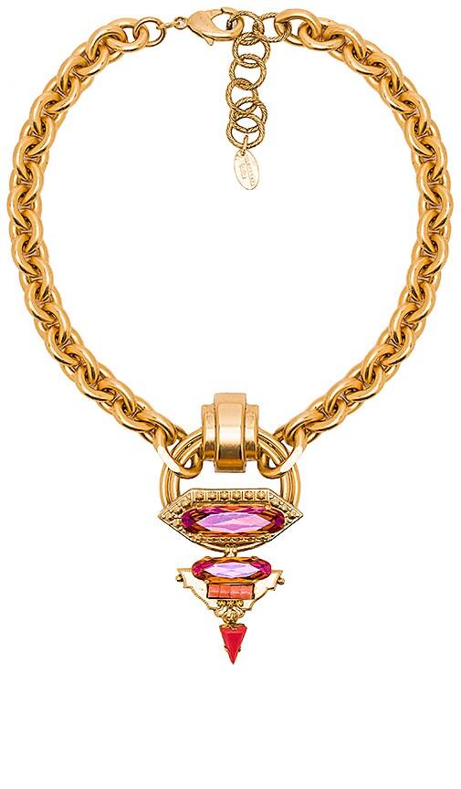 Elizabeth Cole Hexagon Drop Necklace in Sherbert