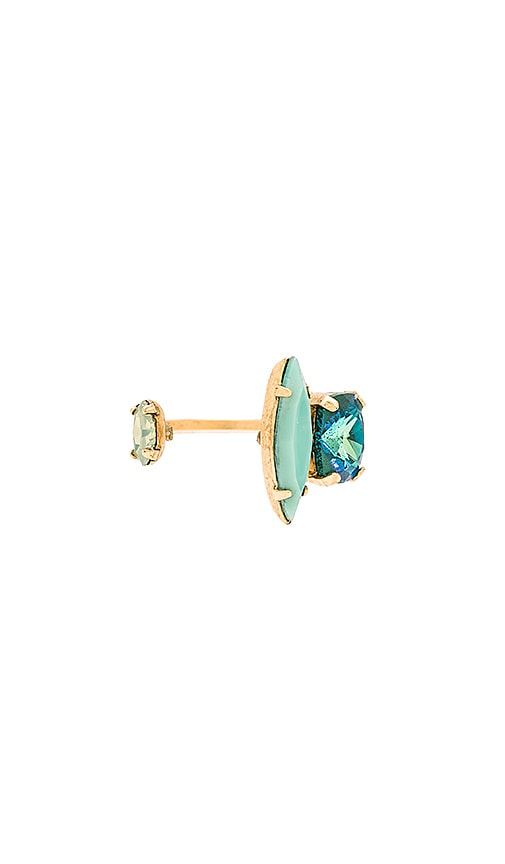 Elizabeth Cole Mixed Gem Ring in Seafoam