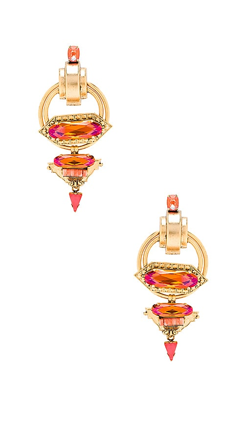 Elizabeth Cole Hexagon Drop Earring in Sherbert