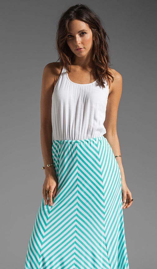 Lila Stripe Skirt Maxi
