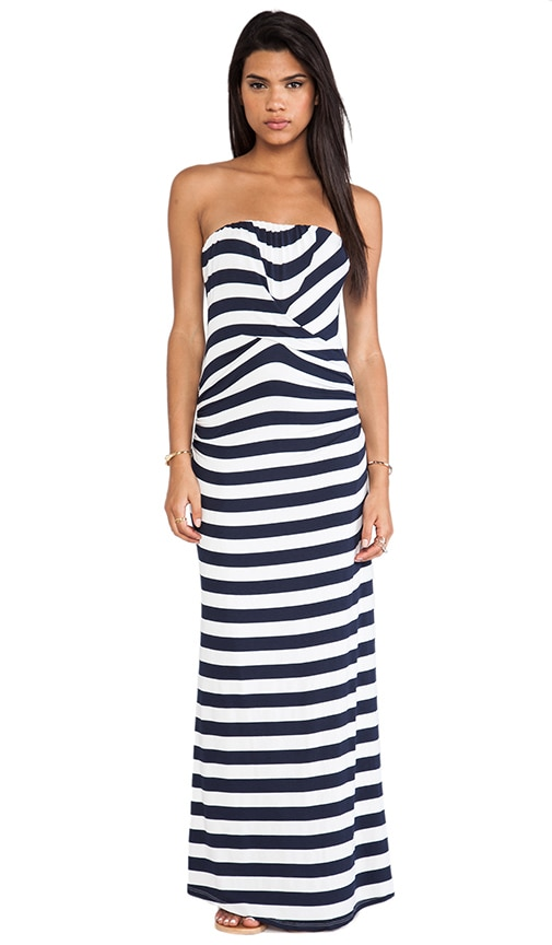 Isla Striped Strapless Maxi Dress