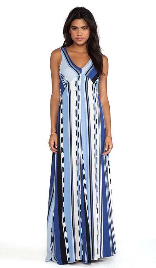 Surfer Stripe Maxi Dress