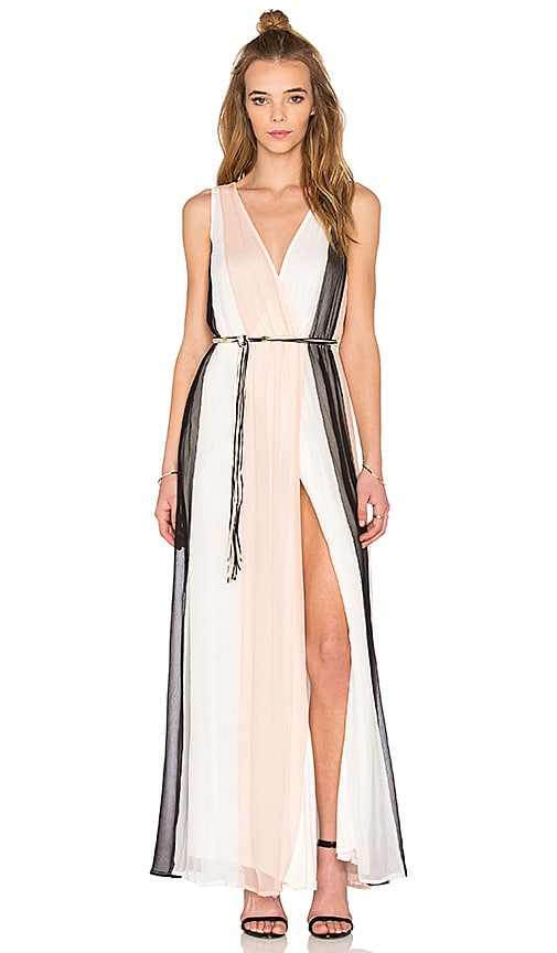Ella Moss Ophelia Crossfront Dress in Black