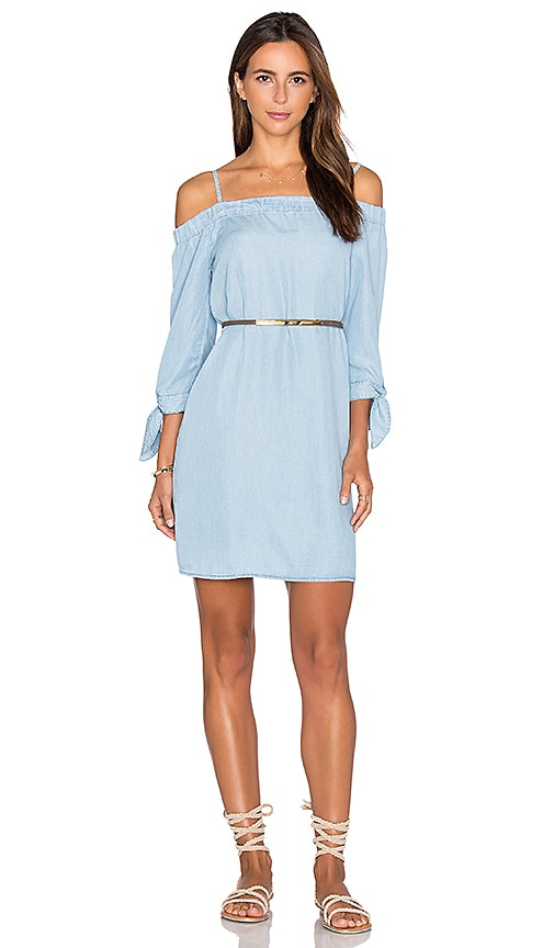 Ella Moss Off Shoulder Shift Dress in Blue