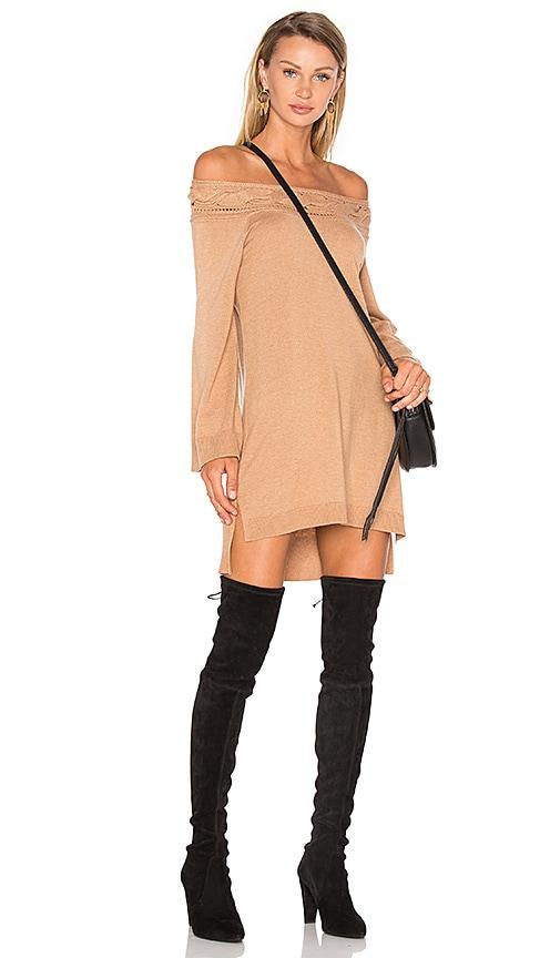 Ella Moss Blinda Sweater Dress in Tan