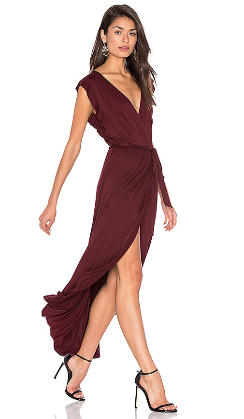 Ella Moss Bella Wrap Dress in Burgundy
