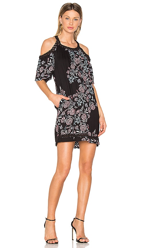 Ella Moss Wanderer Floral Dress in Black